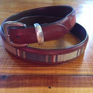 Other - Men's Genuine Leather Brown Southwestern Belt